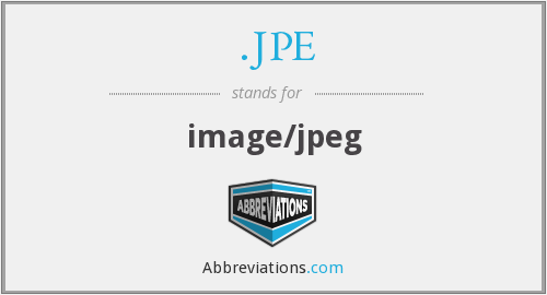 What does .JPE stand for?