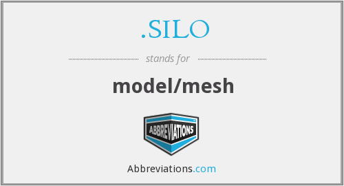 What does .SILO stand for?