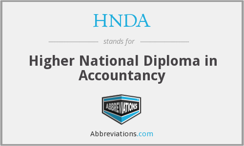 What does HNDA stand for?