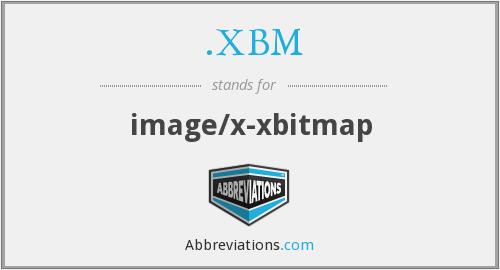 What does .XBM stand for?