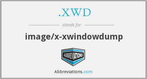 What does .XWD stand for?