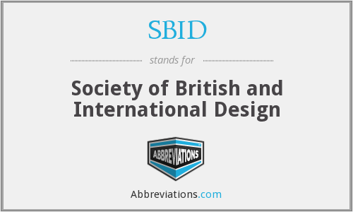 What does SBID stand for?