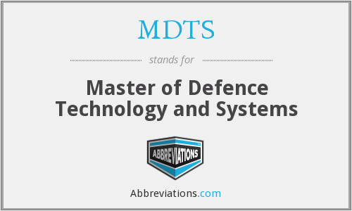 What does MDTS stand for?
