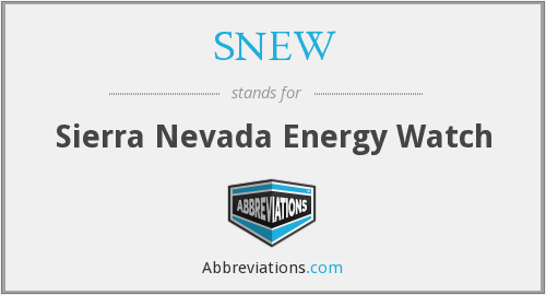 What does SNEW stand for?