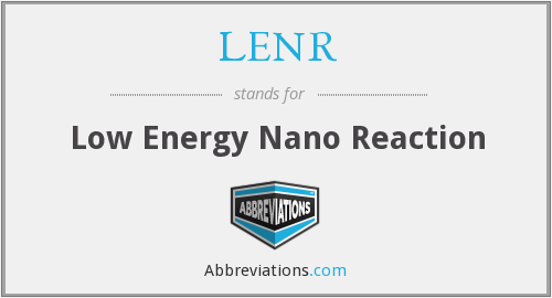 What does LENR stand for?