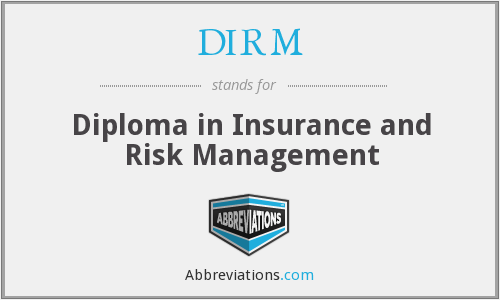 What does DIRM stand for?