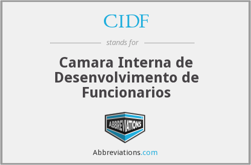 What does CIDF stand for?