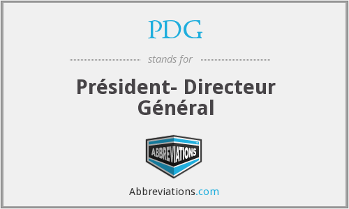 What does PDG stand for?