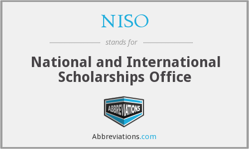 What does NISO stand for?