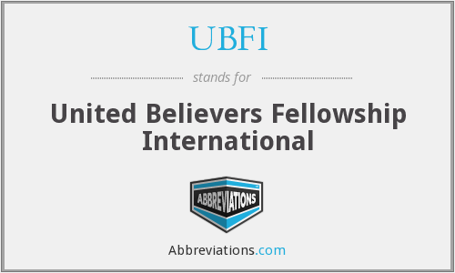What does UBFI stand for?