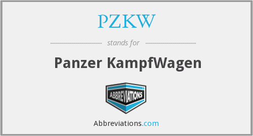 What does PZKW stand for?