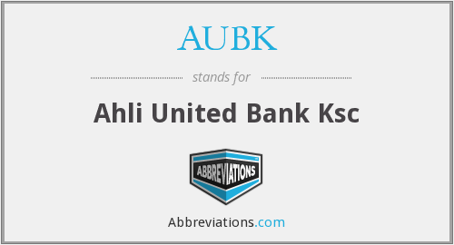What does AUBK stand for?