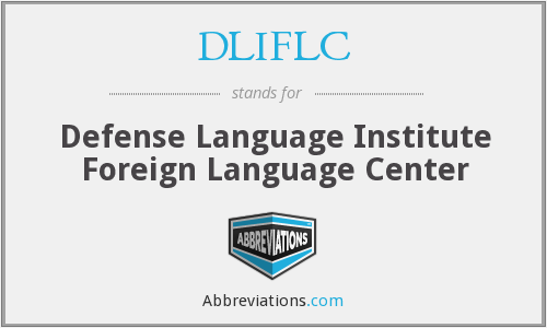 What does DLIFLC stand for?