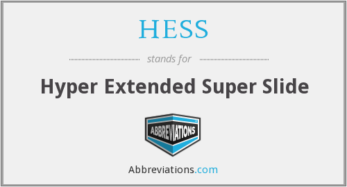 What does HESS stand for?