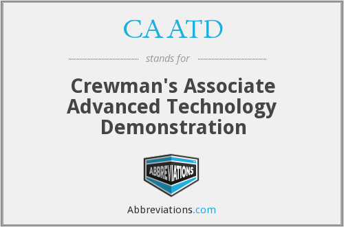 What does CAATD stand for?