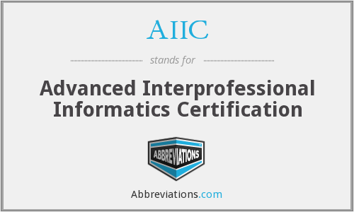 What does AIIC stand for?