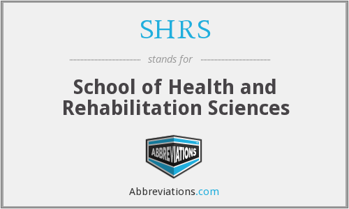 What does SHRS stand for?