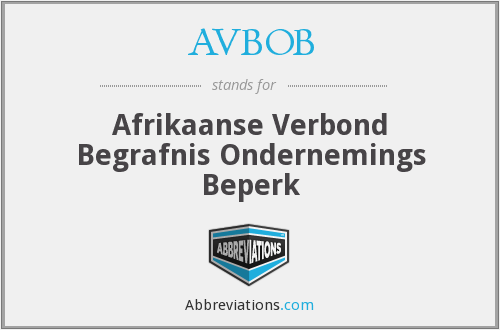What does AVBOB stand for?