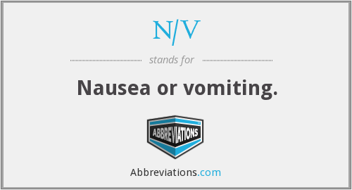 What does N/V stand for?