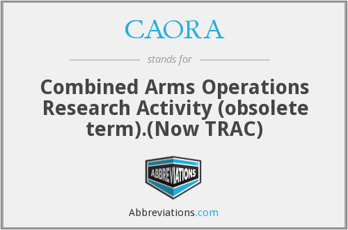 What does CAORA stand for?
