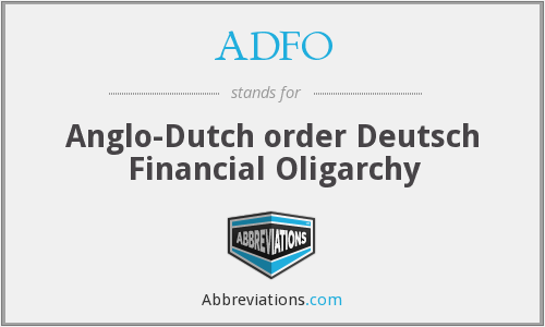 What does ADFO stand for?