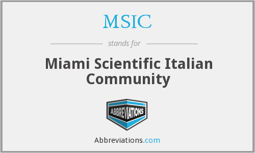 What does MSIC stand for?