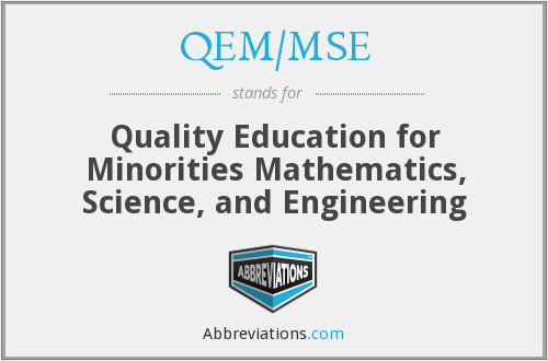 What does QEM/MSE stand for?