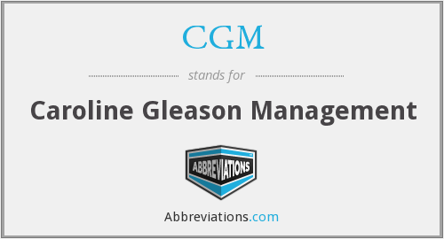 What does CGM stand for?