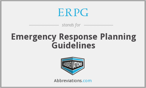 What does ERPG stand for?