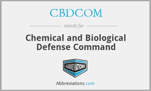 What does CBDCOM stand for?