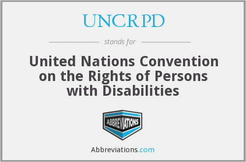 What does UNCRPD stand for?