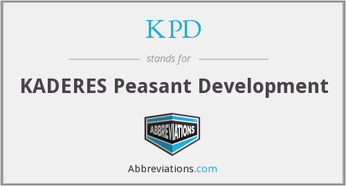 What does KPD stand for?