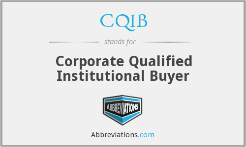 What does CQIB stand for?