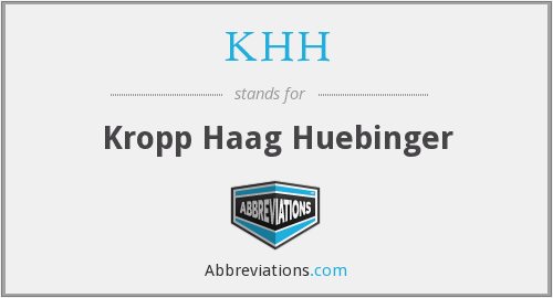 What does haag stand for?