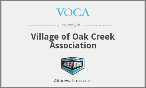 What does VOCA stand for?