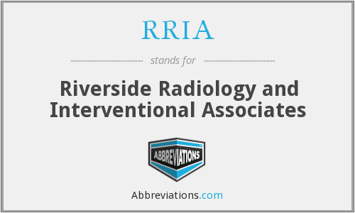 What does RRIA stand for?