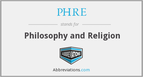 What does PHRE stand for?