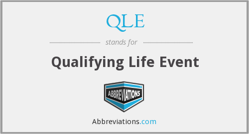 What does QLE stand for?