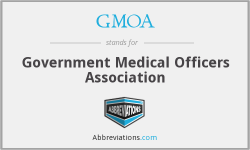 What does GMOA stand for?