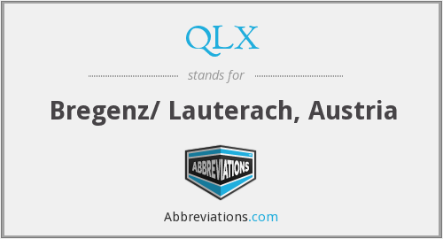 What does QLX stand for?