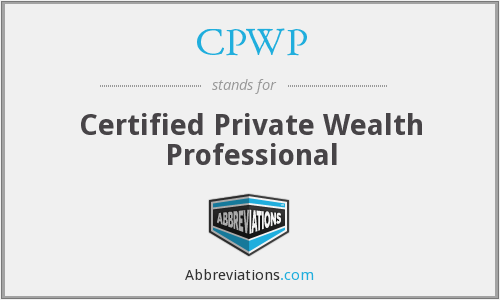 What does CPWP stand for?