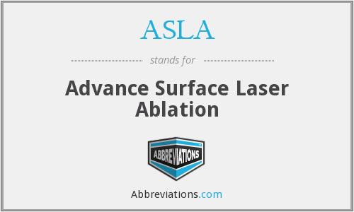 What does ASLA stand for?