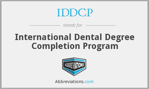 What does IDDCP stand for?