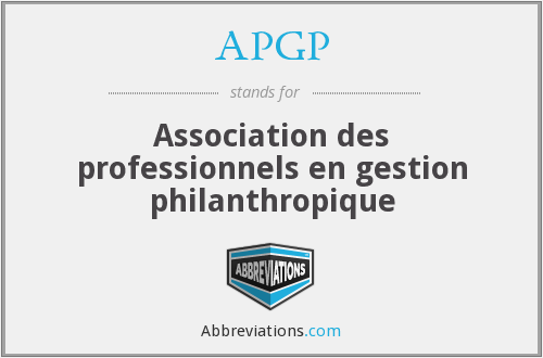 What does APGP stand for?
