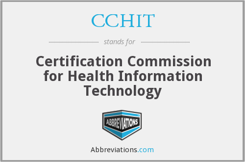 What does CCHIT stand for?