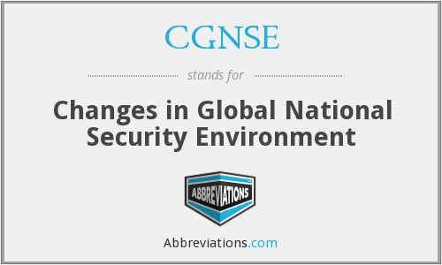 What does CGNSE stand for?