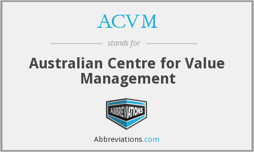 What does ACVM stand for?