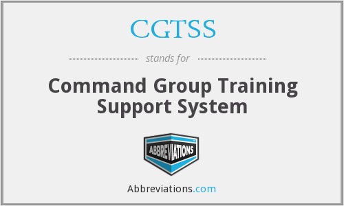What does CGTSS stand for?