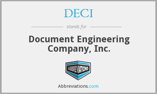 What does DECI stand for?