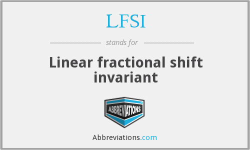 What does LFSI stand for?